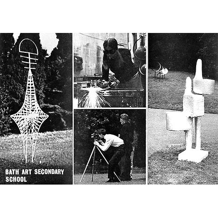 School Prospectus 1966, showing oxy-acetylene cutting, 16mm filming and sculpture from the yearly major Summer Exhibition