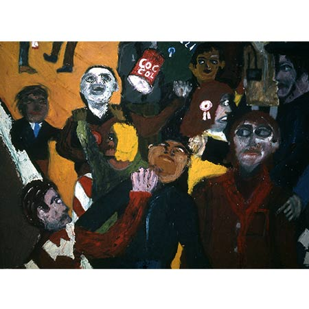 Crowd Violence (detail) 1976, Oil on canvas (From the Final Major Show at The Royal College of Art, London)