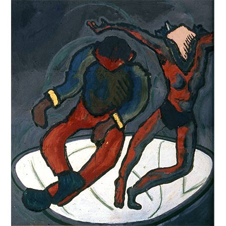 The Dancers 1975-6, Oil on canvas, 213 x 213cm