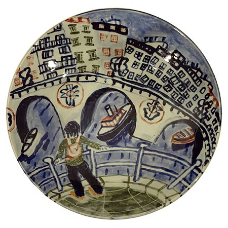 Paris platter 2012, in collaboration with potter Ian Smith - Wentworth Falls, NSW, Ceramic 40cm dia.
