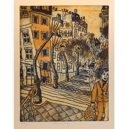 Montmartre, Two plate etching 33 x 25cm