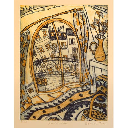 Paris Window, Two plate etching, 33 x 25cm
