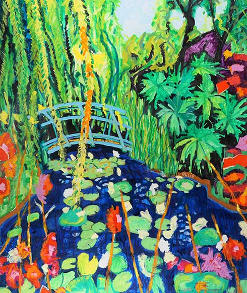 Monets Studio and Garden-Giverny France, 183x153cm